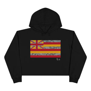 Kanaka Kollection Tribal Flag Cropped Hoodie (Y/G)