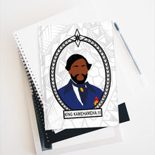 Load image into Gallery viewer, Tribal King Kamehameha III Journal - Ruled Line (White)