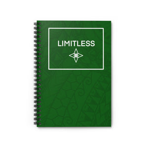 Tribal LIMITLESS Square Spiral Notebook - Ruled Line (Green)