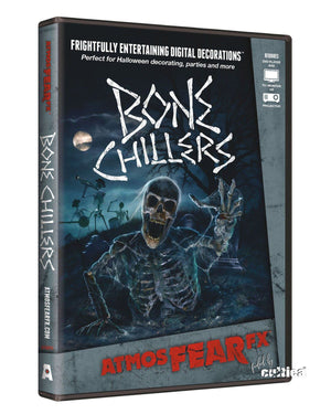 Bone Chillers Skelett Kino Projektionen DVD Edition