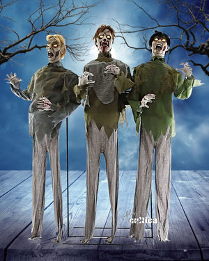 "Animatronic ""Zombie Trio"" - SCREAMSTORE"