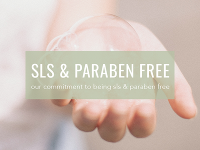 Our Commitment To Being SLS & Paraben Free