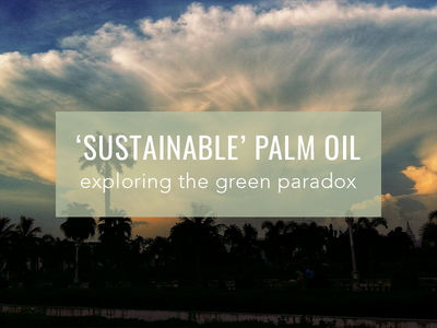 'Sustainable' Palm Oil; The Green Paradox