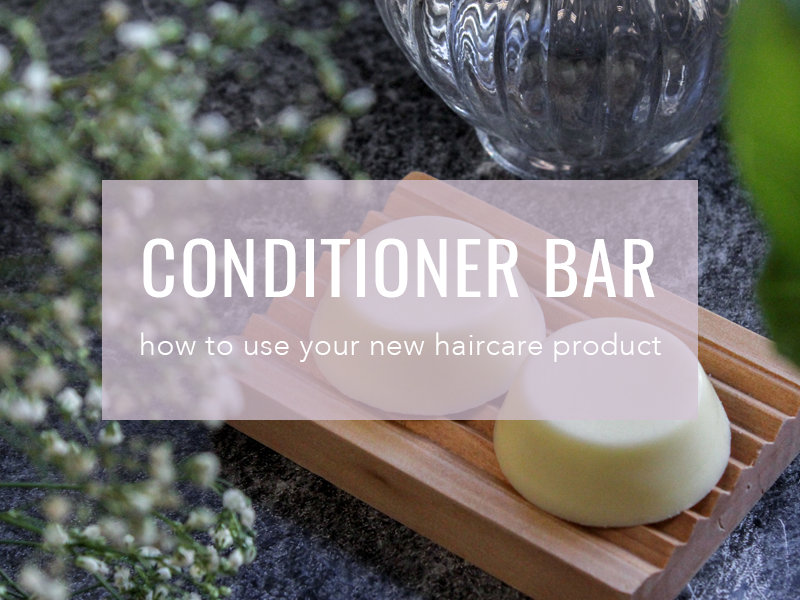Solid Conditioner Bar Plastic and Palm Oil Free