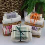 Cosy Cottage Soap 110g Soap, Soap Dish & Face Cloth Set