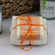 Cosy Cottage Soap Vegan 110g Soap, Face Cloth & Soap Dish Set