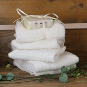 Cosy Cottage Soap Organic Cotton Face Cloth Flannel With Shea Butter Soap