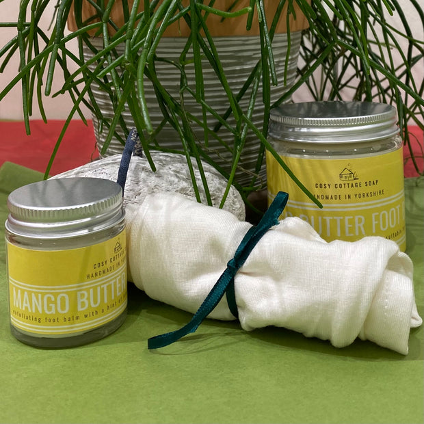 Mango Butter & Lemon Foot Balm With Pumice and/or Moisturising Bamboo Socks