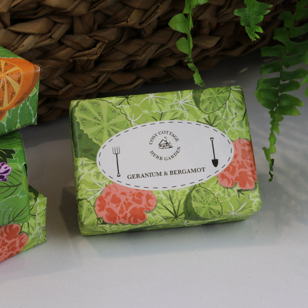 Cosy Cottage Soap Herb Garden Soaps in Geranium & Bergamot
