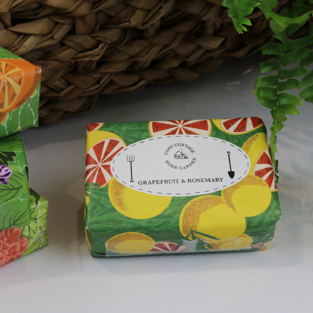 Cosy Cottage Soap Herb Garden Soaps in Grapefruit & Rosemary