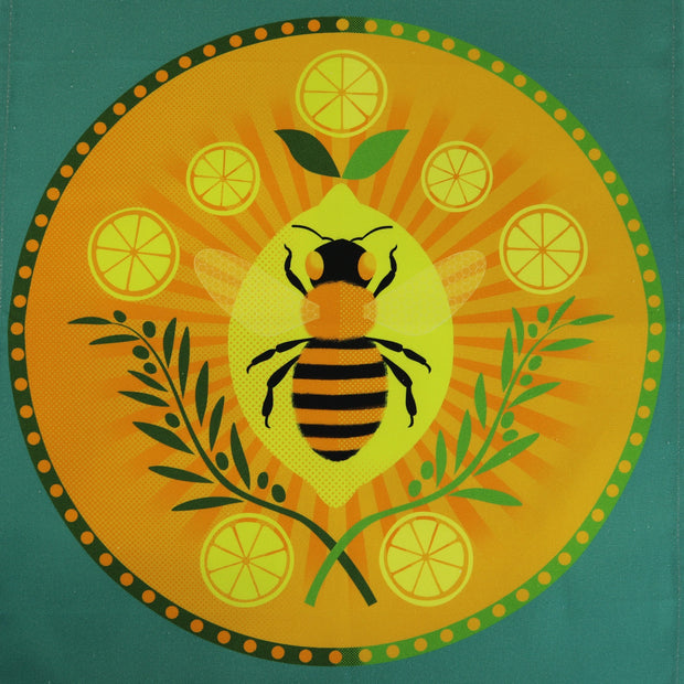 Cooperillo Bee Tea Towel In Gree