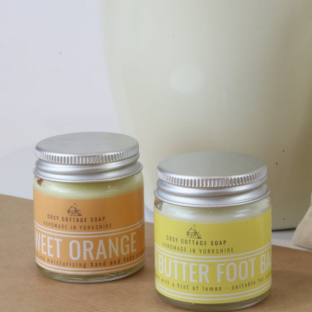 Cosy Cottage Soap Sweet Orange Hand Cream & Mango Butter Foot Balm