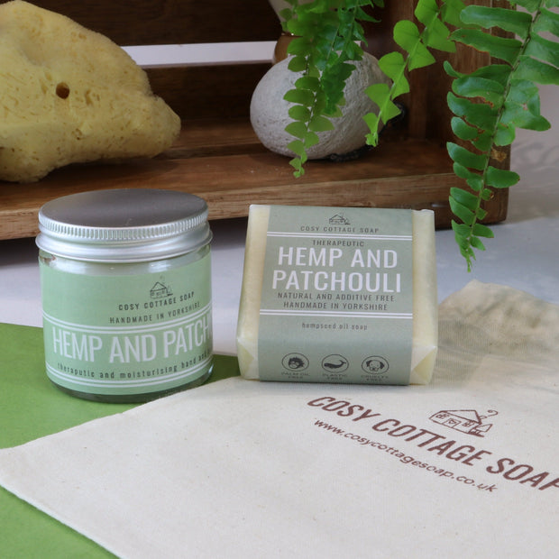 Cosy Cottage Soap Hemp & Patchouli Soap & Cream Set