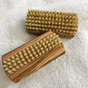 Olive wood nail brush with sisal bristles