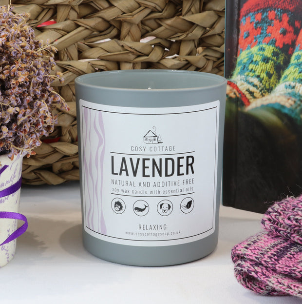 Cosy Cottage Soy Wax Candles in Lavender