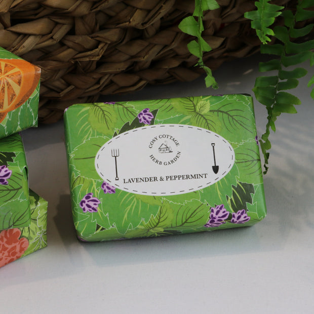 Cosy Cottage Soap Herb Garden Soaps in Lavender & Peppermint