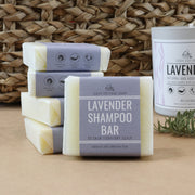 Natural lavender solid shampoo bars