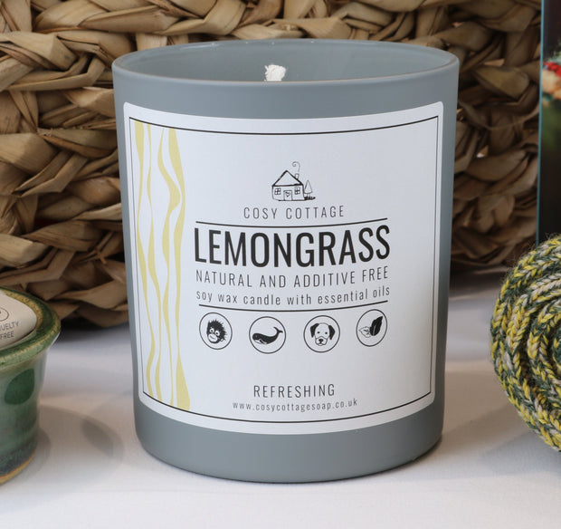Cosy Cottage Soy Wax Candles in Lemongrass Scent