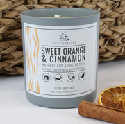 Cosy Cottage Soy Wax Candles in Sweet Orange & Cinnamon Scent