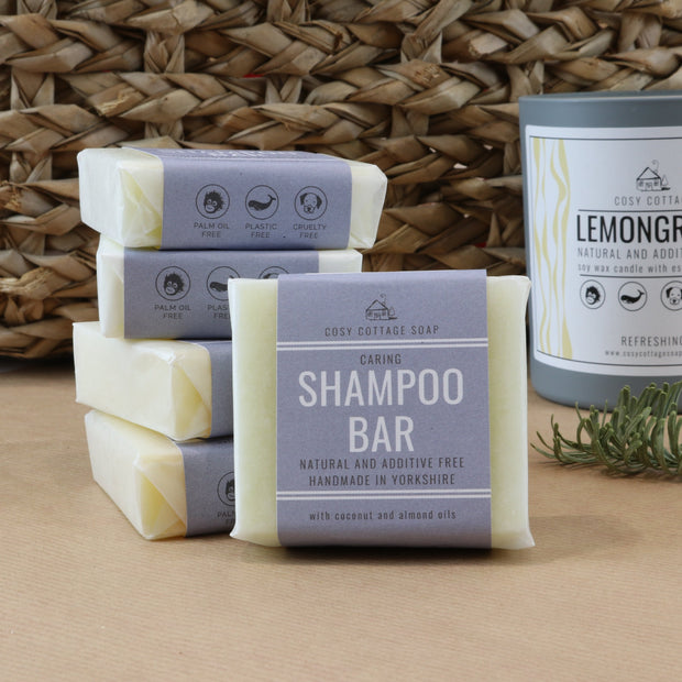 Cosy Cottage Soap Plastic & Palm Oil Free Starter Box With Natural Solid Shampoo Bar