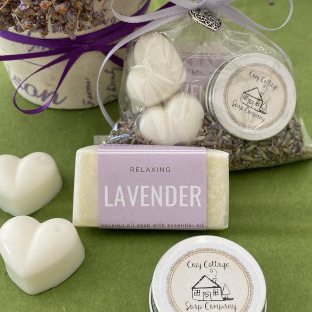 Wedding Favours - Triple Treat 'Melt Your Heart' Lavender Wax Melts, soap and lip balm