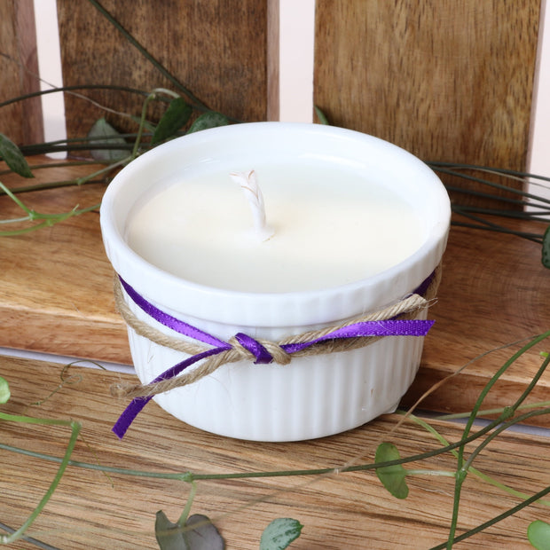 Cosy Cottage Ramekin Candles in Lavender