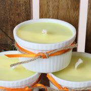 Cosy Cottage Ramekin Candles in Cinnamon & Orange