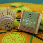 Cosy Cottage Soap Washing Up Soap With Cooperillo Bee Tea Towel and Washing Up Brush
