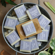 Natural solid shampoo bars in lemongrass, lavender or scent free