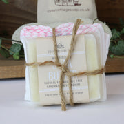 Cosy Cottage Soap Shea Butter Facial Soap With Muslin Cloth and Bag