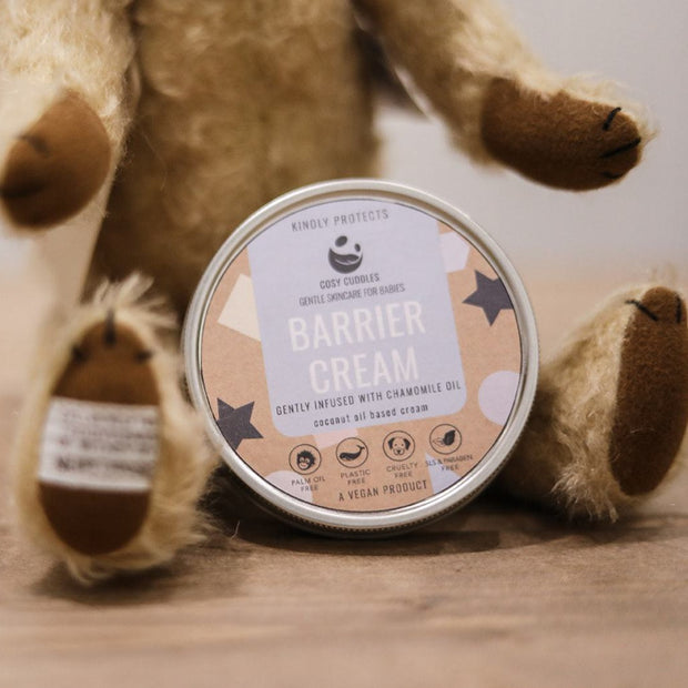 Cosy Cuddles Baby Barrier Cream with teddy bear
