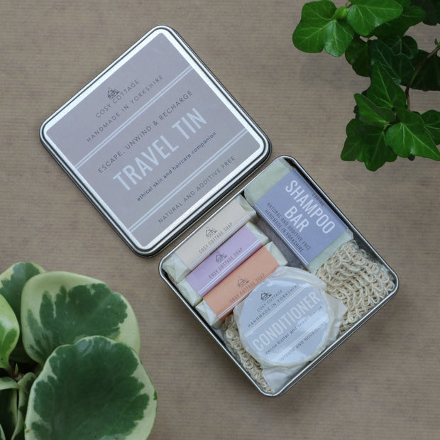Cosy Cottage Soap Travel Tin Holiday Toiletries