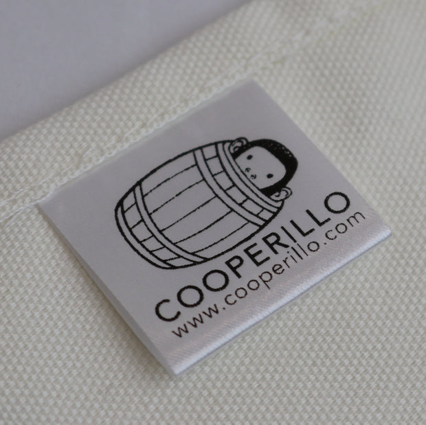 Cooperillo Bee Tea Towel Label In White