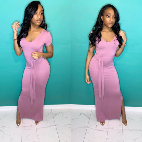 Mauve Split Dress