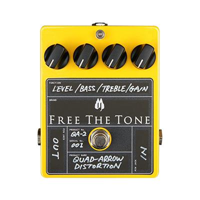 FREE THE TONE Quad-Arrow Distortion QA-2 Pedals and FX Free The Tone