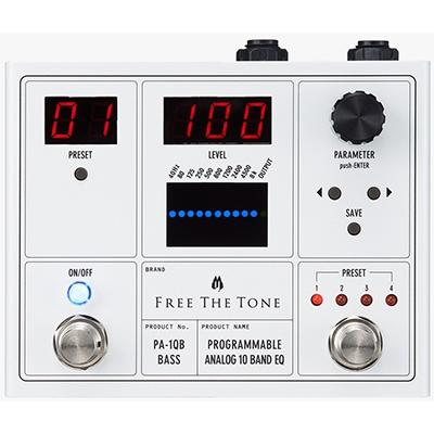FREE THE TONE Programmable Analog 10 Band EQ - Bass Pedals and FX Free The Tone
