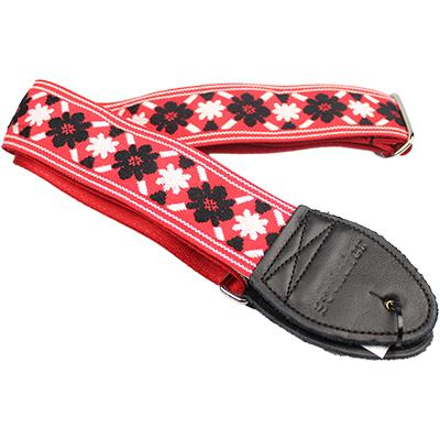 "SOULDIER STRAPS Vintage 2"" - Tulip Black/Red"