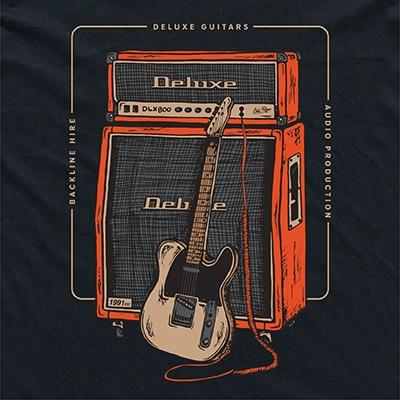 "DELUXE T-Shirt ""RIG"" - Medium Accessories Deluxe Guitars"