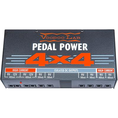 VOODOO LAB Pedal Power 4x4 Pedals and FX Voodoo Lab