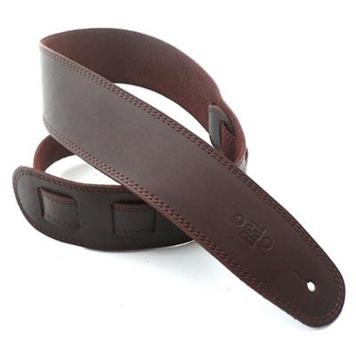 DSL Deluxe Guitars Strap Saddle Brown w/ Black Stitch