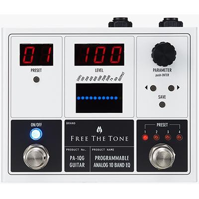 FREE THE TONE Programmable Analog 10 Band EQ - Guitar Pedals and FX Free The Tone