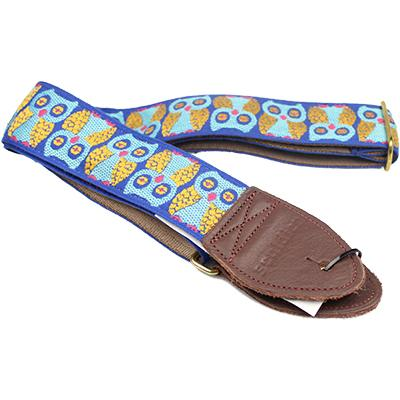 "SOULDIER STRAPS Vintage 2"" - Owls Blue Accessories Souldier Straps"