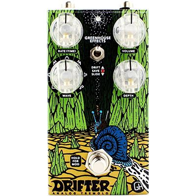 GREENHOUSE Drifter Tremolo Pedals and FX Greenhouse Effects