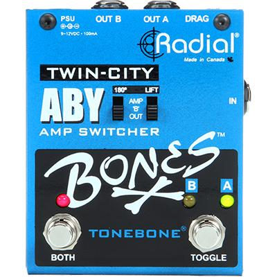 RADIAL Twin City ABY Pedals and FX Radial Engineering