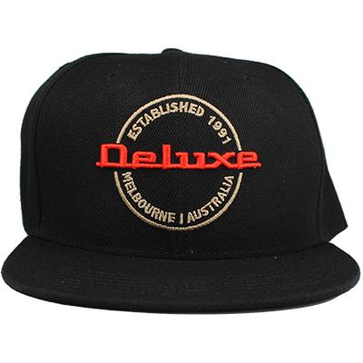 DELUXE 3D Embroidered Snapback Cap - Black