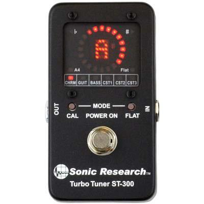 SONIC RESEARCH ST-300 Turbo Tuner Pedals and FX Sonic Research