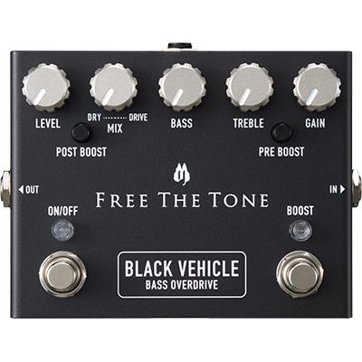 FREE THE TONE Black Vehicle Bass Overdrive Pedals and FX Free The Tone