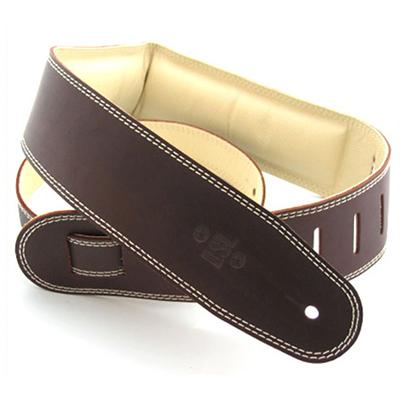 DSL Heavy Padded Leather Saddle Brown/Beige Strap Accessories DSL Straps