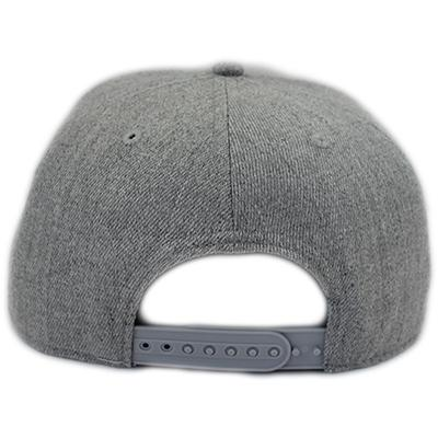DELUXE 3D Embroidered Snapback Cap - Light Grey