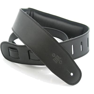 DSL Heavy Padded Leather Black/Black Strap Accessories DSL Straps